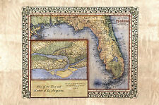 Florida 1847 Featuring St. Augustine laser reproduction