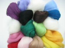 Felting Wool Roving Fiber Needle Dry Felting Wool Hand Spinning Felting Craft