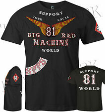 1C Hells Angels Big Red Machine Anniversary Wings Support81 T-Shirt (M - 6XL)