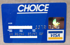 Vintage Expired Choice Visa Cirrus Most Credit Card 1997