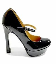 Ana Lublin Mary Jane Platform Heels Patent Leather Shoes Nero (Black) Size 40