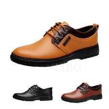 Men Casual leather shoes Wing Tip fashion Oxfords lace up flats  uomo scarpe
