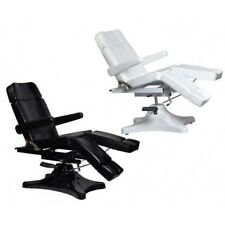 BLACK Hydraulic Facial WHITE Waxing Beauty Bed, Massage Table Tattoo chair