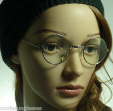 60s Lennon Round Small Metal Optical Rx Vintage Frame Clear Lens Eye Glasses NEW
