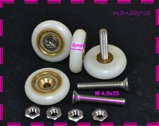 4 x Shower Door Rollers/Runners/Wheels Replacement Parts B 22mm