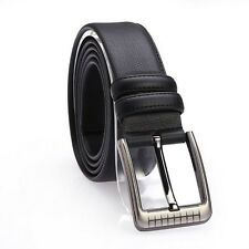 Fashion Classic Cowhide Casual Pin Buckle Genuine Leather Mens Belts Waistband