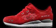 ASICS GEL LYTE III 3 RED GREY WHITE PUDDLE PACK SUEDE  SZ 7-13   * H5U3L 2323 *