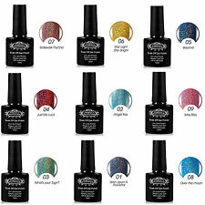1PCS Nail Gel Polish Soak Off Halo Gel Lacquer UV LED Lamp Manicure Glitter 10ML