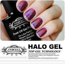 Perfect Summer Halo Gel Polish Nail Lacquer Brand New Glitter Color Sparkle 10ML