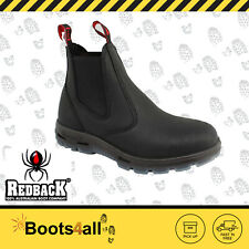 Redback Work Fire Station Mechanic Boots Black Leather Easy Escape Bobcat UBBK