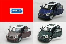 Welly 1:34-1:39 DIECAST Mini Cooper S Paceman Car Blue / Brown / Green Model New