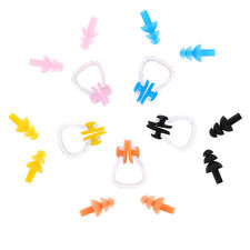 Swimming Nose Clip and Ear Plug Earplug Silicone Pink/Blue/Yellow/Orange Color