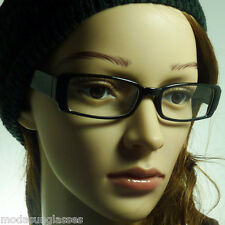 VINTAGE Nerd Eyewear Men Women Unisex Rectangle Frame Clear Lens Eye Glasses NEW