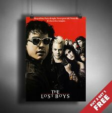 THE LOST BOYS 1987 MOVIE POSTER A3 A4 * Classic Old Vintage Vampire Film Print