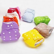 Baby Infant Healthy Cloth Diapers Reusable Nappy Covers Adjustable 7 Colors