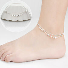 Popular Silver Plated Chain Anklet Beach Barefoot Ankle Bracelet Summer Jewelry