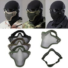 Steel Mesh Half Face Mask Guard Protect For Paintball Airsoft Game Hunting H5