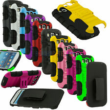 Heavy Duty Kick Stand Locking Belt Swivel Clip for Samsung Galaxy S3 S III I9300
