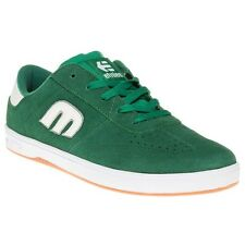 New Mens Etnies Green Lo-Cut Suede Trainers Skate Lace Up