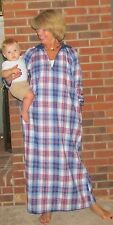 Robe Nightgown Lounger Zipper Flannel Plaids 'Made in USA'