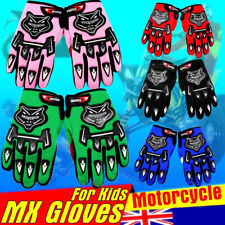 Youth/Kids ATV Motocross Motorcycle Off-Road MX Dirt Bike Gloves Blue RED BLACK