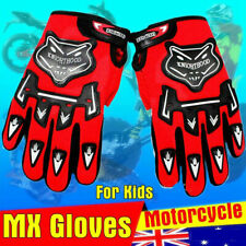 Kids MX Motocross Offroad Racing  ATV Quads Youth Spectrum Full finger Glove RED