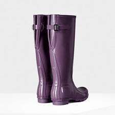 HUNTER ORIGINAL BACK ADJUSTABLE DUSTY LAVENDER GLOSS RAIN BOOTS WOMEN WFT1001RGL