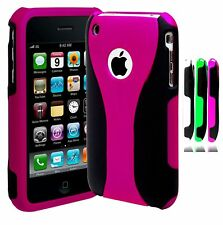 For iPhone 3, 3G, 3S, 3GS Protective Cup Shape Snap On Case Cover