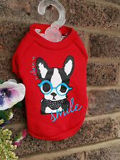 Petit pet dog clothes Chihuahua manteau red dog pull Costume Taille-L TEDDY visage