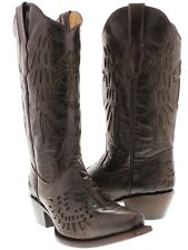 Women's Cross and Wings Light Brown Leather Cowboy Boot Western Wear Rodeo