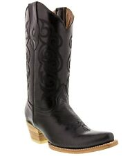 women's caroline black western leather cowboy boots rodeo cowgirl ladies riding
