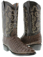 mens brown crocodile alligator belly western cowboy boots leather rodeo