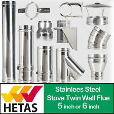 stove flue pipe Twin Wall Insulated Flue System For Stoves Woodburner boiler snh