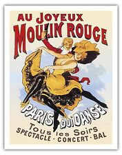 Paris France Moulin Rouge Cabaret Vintage Theater Art Poster Print Giclee