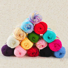 50g Super Soft Natural Cotton Silk Smooth Baby Sweater Soft Yarn Knitting Ball