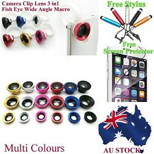Camera Clip Lens 3in1 Circle Fish Eye Wide Angle Macro For iphone 6 6s 6 plus