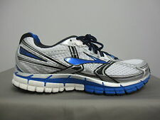 BROOKS ADRENALINE GTS 14 WHITE BLUE SILVER RUNNING SHOES 110158 1D 177