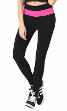 Womens Yoga Fitness Running Leggings Gym Exercise Black Sports Pants Trousers