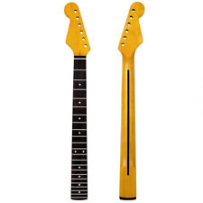 Electric Guitar Neck For ST Part 22 Fret Maple Rosewood Yellow Right/Left Handed