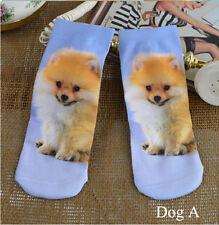 Womens Free Size Cute Cats Fish Floral Pattern Girls Ankle Short Socks Colorful