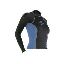 Scubapro T-Flex Long Sleeve Lady Swim/Snorkel Rashguard - Black/Blue