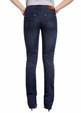 College Girls Womens Straight Leg Jeans Slim Fit Classic Wash Denim Trousers