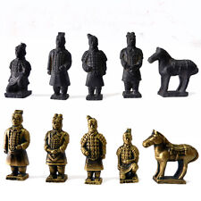 Collectibles New Chinese Handmade Terracotta Army 5pcs Gift Set Ornaments