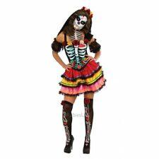 New Day of the Dead Mexican Muertos Halloween Skeleton Adult Fancy Dress Costume
