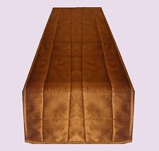 All Size Beautiful Plain solid Faux Silk Rust Long Table Runner Quilted