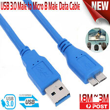 USB 3.0 Micro B SuperSpeed Data Charger Cable Lead For Samsung Galaxy S5 Note 3
