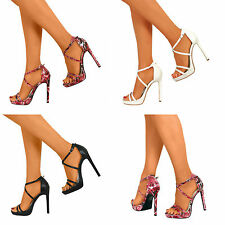Womens Stiletto Ankle Strap Sexy High Heels New Open Toe Sandal Pumps Size