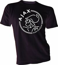 AFC Ajax Amsterdam Football Club Soccer T Tee Shirt  white logo Size s-4XL