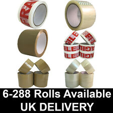 STRONG Brown/Clear/FRAGILE Parcel Packing Tape packaging box sealing 48mm x 60m