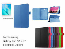 """Screen Protector/360°Rotate PU Leather case for Samsung Galaxy Tab S2 9.7"""""""